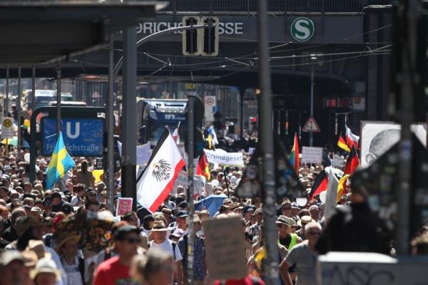 Foto: Demo von Corona-Skeptikern am 01.08.2020, über dts Nachrichtenagentur